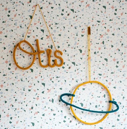 Muur babykamer Otis