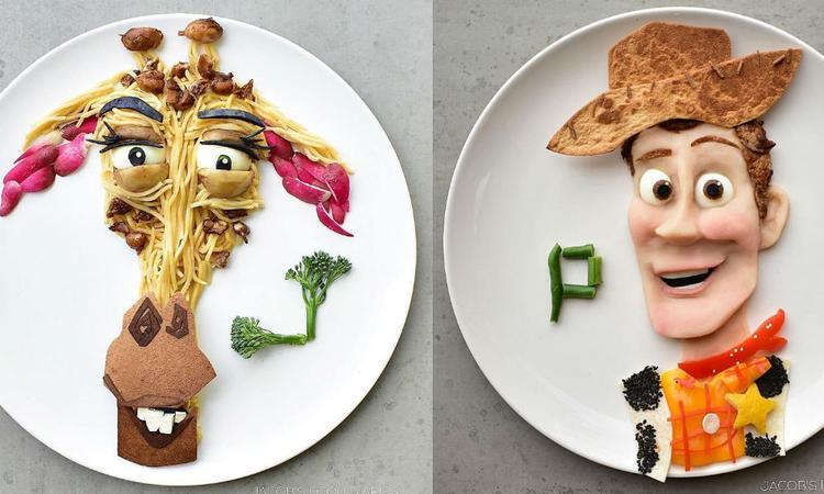 Wauw: deze creatieve moeder transformeert gezond eten in tekenfilmfiguren