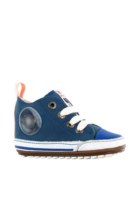 Shoesme BP20S004-A leren sneakers blauw