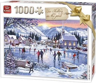 King Puzzel 1000 Stukjes winter