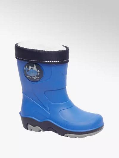 Warmgevoerde regenlaars blauw