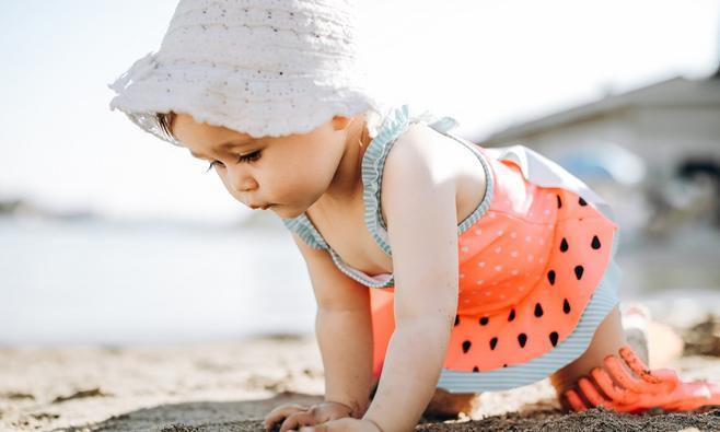 Wat als je kind verbrand is door de zon?