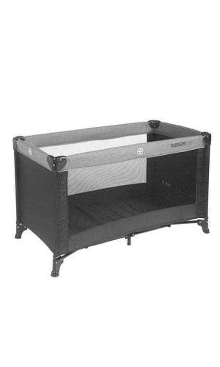 Titaniumbaby Campingbed 60X120 cm - Zwart / Melange