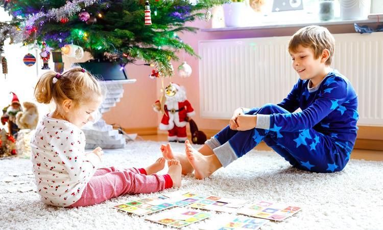 Kerst spelletjes spelen