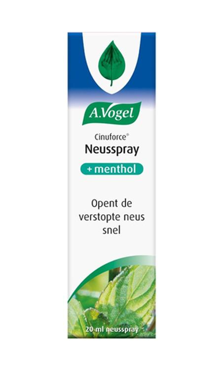 A.Vogel Cinuforce neusspray + menthol - 20 ml