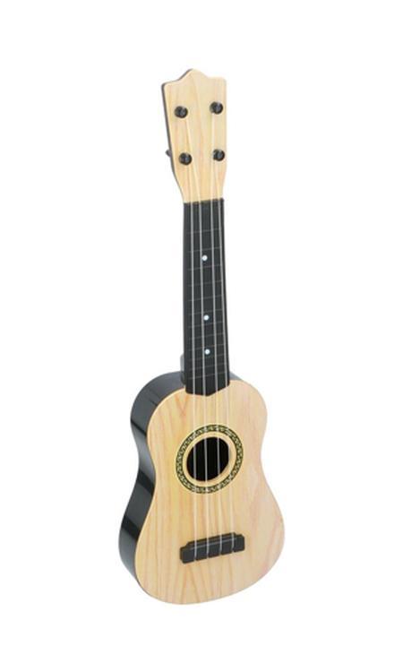 Eddy Toys Kindergitaar - Speelgoedinstrument - 4 Snaren - 57 x 18 x 5 cm