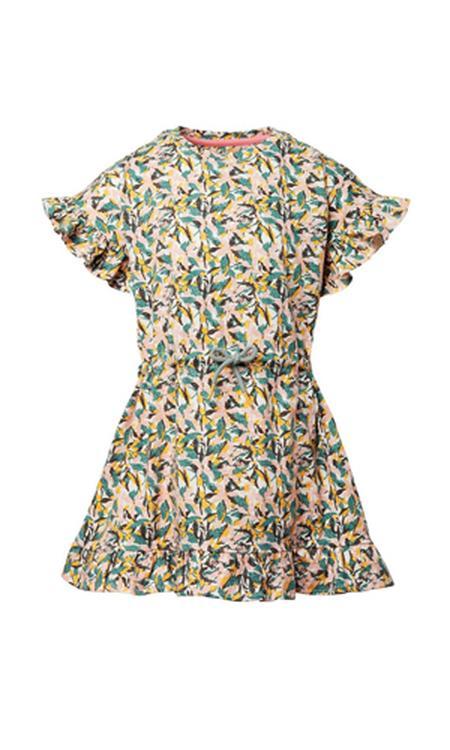 gebloemde jurk Langtonhill met biologisch katoen