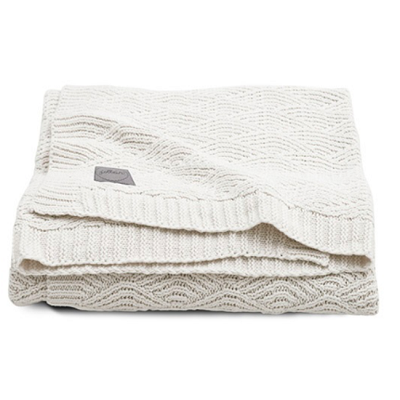 JOLLEIN Dekentje river knit cream white