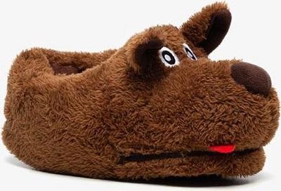 Kinder pantoffels hond - Bruin