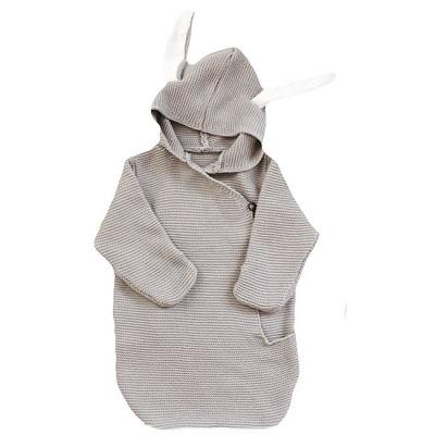 kidooz swaddle blanket bunny grey