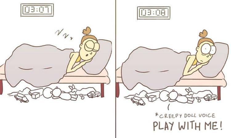 het leven van een moeder in cartoons