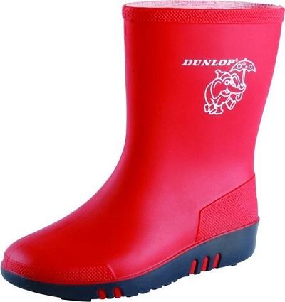 Dunlop gevoerde regenlaars rood