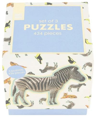 Set puzzels dieren