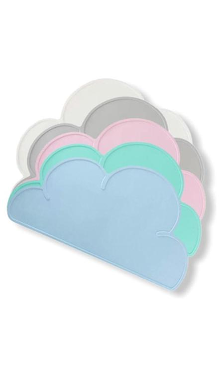 Antislip siliconen placemat grijs - Onderlegger - Wolk - Baby - Kind - Tafelgerei