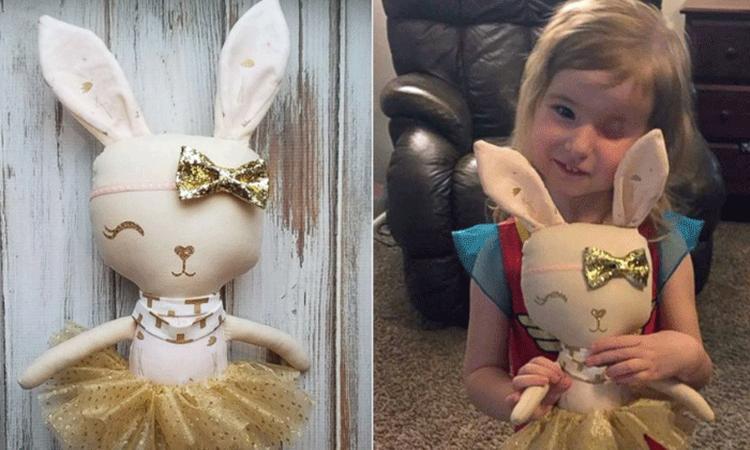 3-jarig meisje krijgt speciaal verjaardagscadeau nadat ze haar oog verloor door kanker
