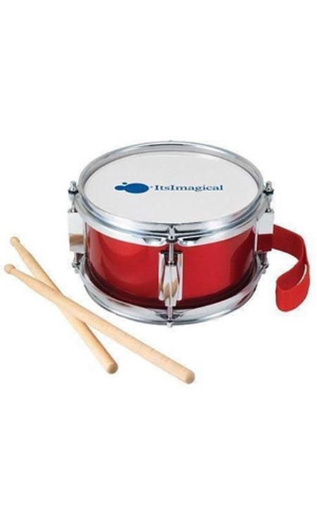 Imaginarium Drum - Trommel met Draagband en Stokken - Met Leerboekje - Kindertrommel Rood