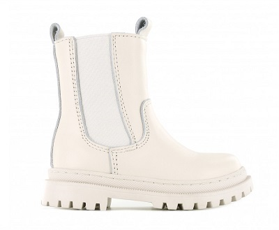 witte chelsea boots