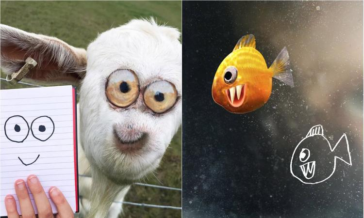 kindertekening van dieren in photoshop