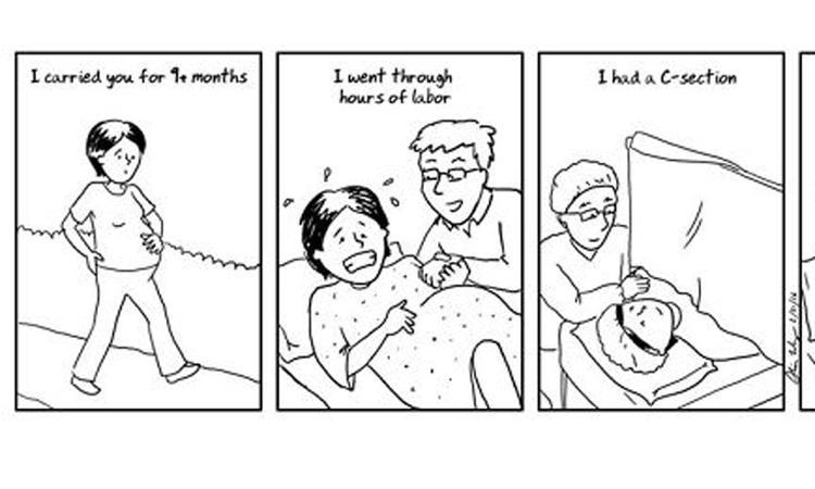 LOL! 19 striptekeningen over het kersverse moederschap