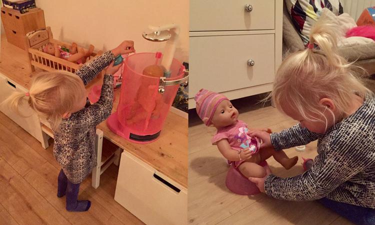 'Het flesje geven vindt Hannah het allerleukst'