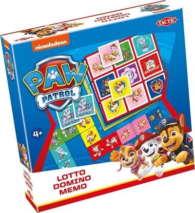 Paw Patrol 3-in-1: Memo - Lotto - Domino