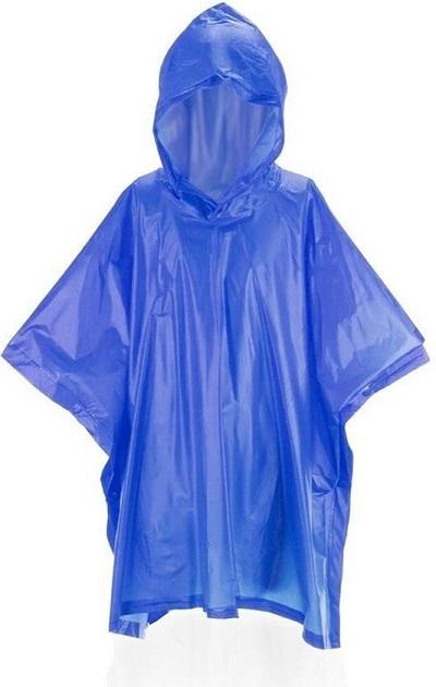 Regen items blauwe regenponcho