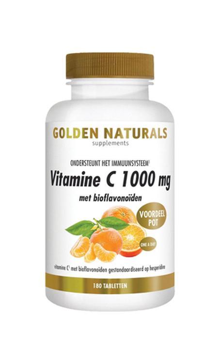 Golden Naturals Vitamine C 1000 mg met bioflavonoïden