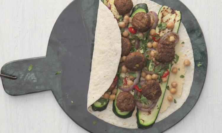 Vegetarische wraps maken voor kinderen