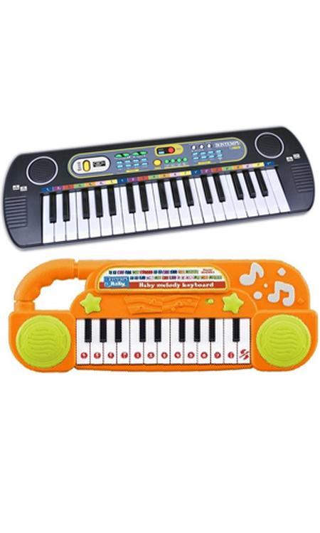 Luna Keyboard Electronic Junior Zwart/wit 2-delig