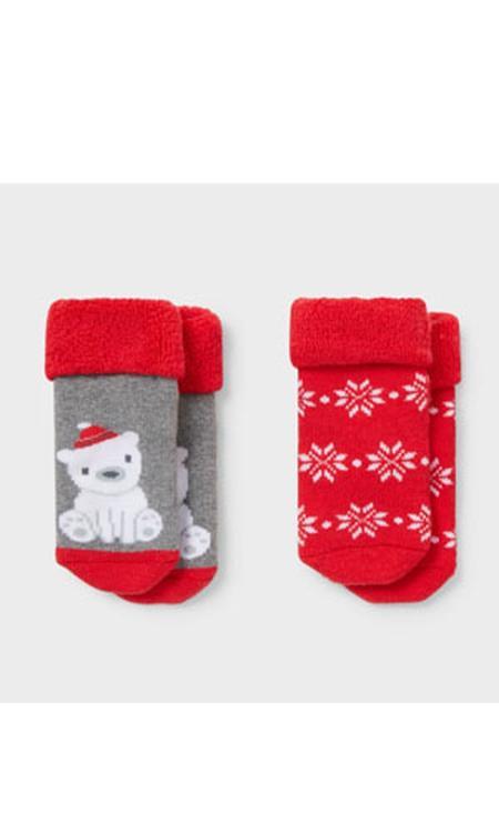 Babysokken voor de kerst - 3 paar - winter