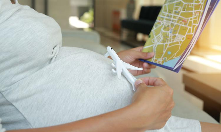 Zwanger en vliegen