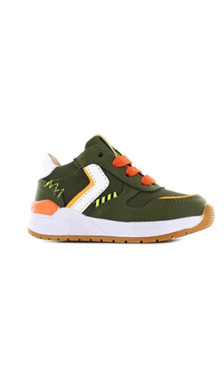 Shoesme ST21S017-B leren sneakers groen