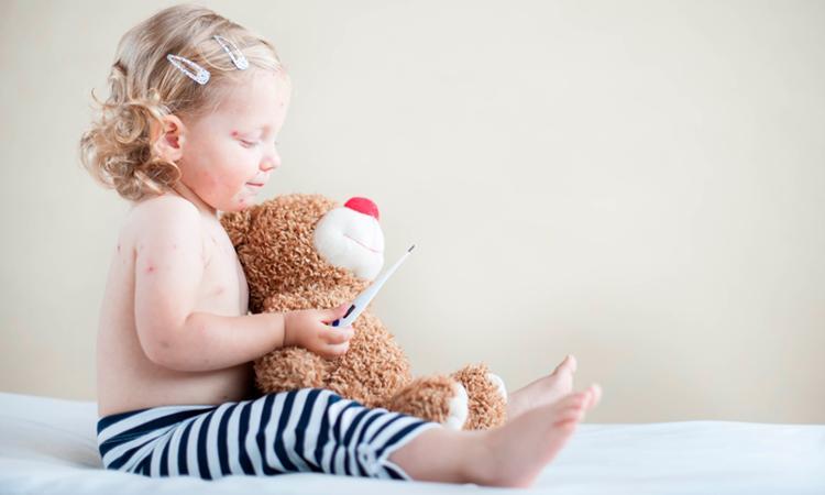 De zesde ziekte bij baby of kind