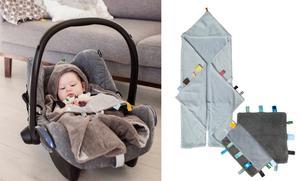Snoozebaby set: wikkeldeken & labeldoekje